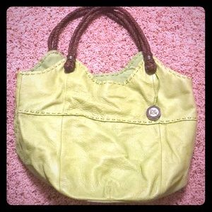 The Sak purse. Lime green.